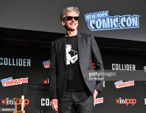 Peter Capaldi speaks onstage during BBC America Presents Spotlight panel during the 2017 New York Comic Con on October 6 2017 in New York City