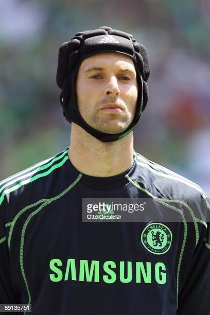 Peter Cech of Chelsea FC looks on before the game against Seattle Sounders FC on July 18 2009 at Qwest Field in Seattle Washington