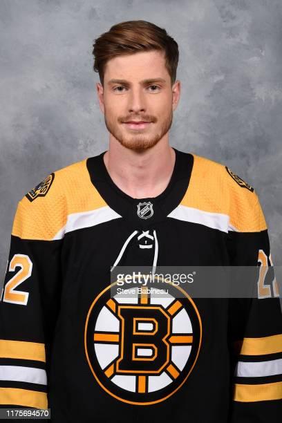 Peter Cehlarik of the Boston Bruins poses for his official headshot for the 20192020 season on September 13 2019 at WGBH in Boston Massachusetts