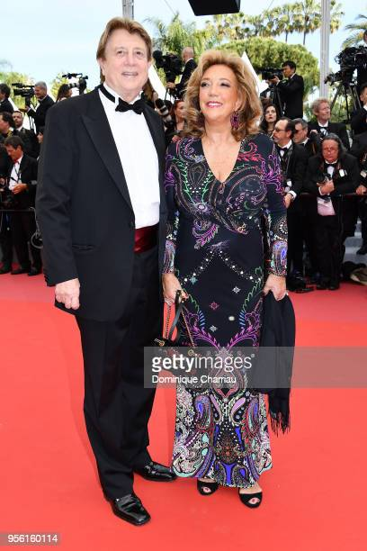 Peter Cervinka and Denise Rich attend the screening of Everybody Knows and the opening gala during the 71st annual Cannes Film Festival at Palais des...