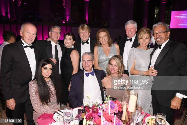 Peter Cervinka and guests attend the Angel Ball 2019 hosted by Gabrielle's Angel Foundation at Cipriani Wall Street on October 28 2019 in New York...