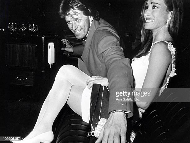 Peter Cetera and Jane Seymour during PreParty for the 63rd Annual Academy Awards Hosted By Roger Moore at L'Orangerie Restaurant in West Hollywood...