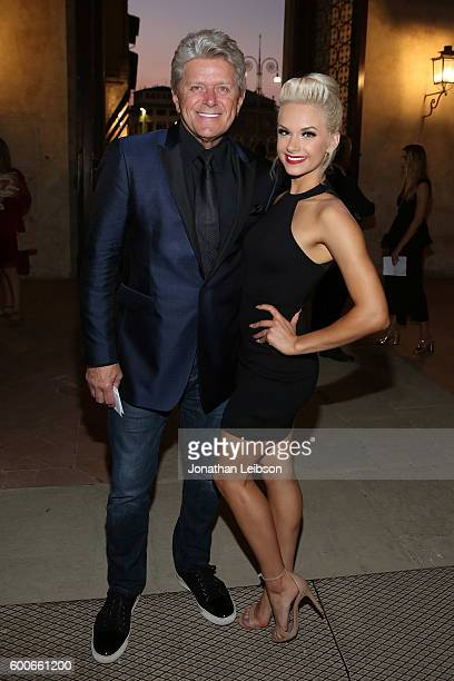 Peter Cetera and Senna Cetera attend the Basilica di Santa Croce Dinner and Reception as part of Celebrity Fight Night Italy benefitting the Andrea...