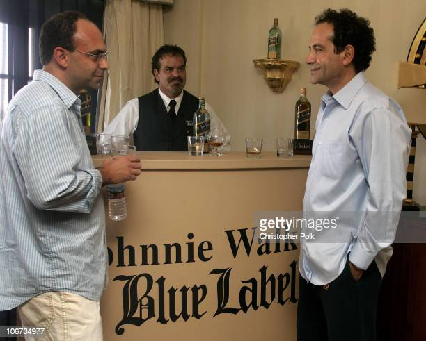 Peter Chakos and Tony Shalhoub during The 2004 Johnnie Walker Blue Gentlemen's Suite at The Four Season Hotel in Beverly Hills California United...