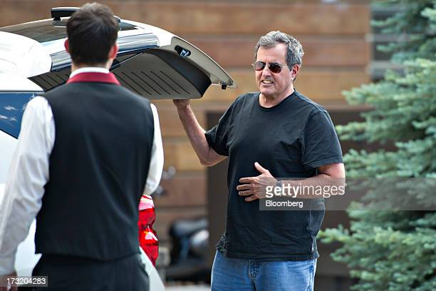 Peter Chernin former president of News Corp arrives at the Allen Co Media and Technology Conference in Sun Valley Idaho US on Tuesday July 9 2013...