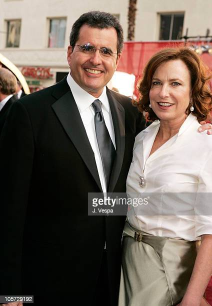 Peter Chernin of News Corps and wife Megan during The 77th Annual Academy Awards Executive Arrivals at Kodak Theatre in Hollywood California United...