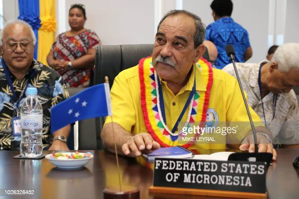 Peter Christian president of the Federated States of Micronesia attends the Small Islands States meeting ahead of the start of the Pacific Islands...