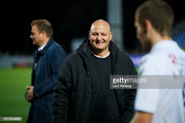 Peter Christiansen sports director of AGF Aarhus after the Danish Superliga match between Hobro IK and AGF Aarhus at DS Arena on August 24 2018 in...