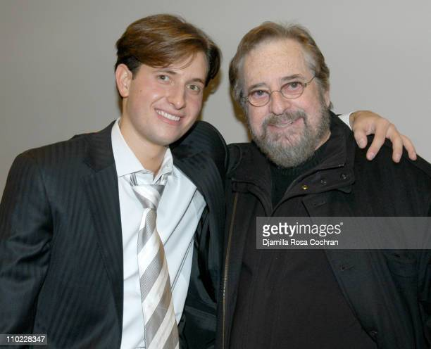 Peter Cincotti and Phil Ramone during Peter Cincotti Performance November 11 2004 at Rose Hall in New York City New York United States