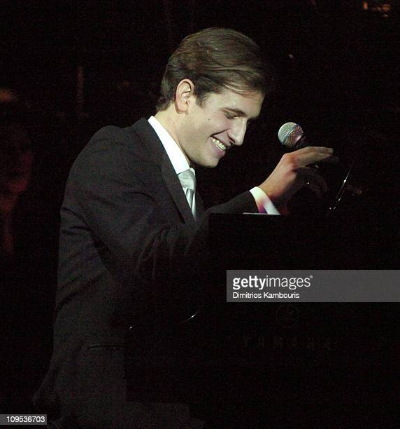 Peter Cincotti during Entertainment Industry Foundation's Colon Cancer Benefit on the QM2 Show at Queen Mary 2 in New York City New York United States