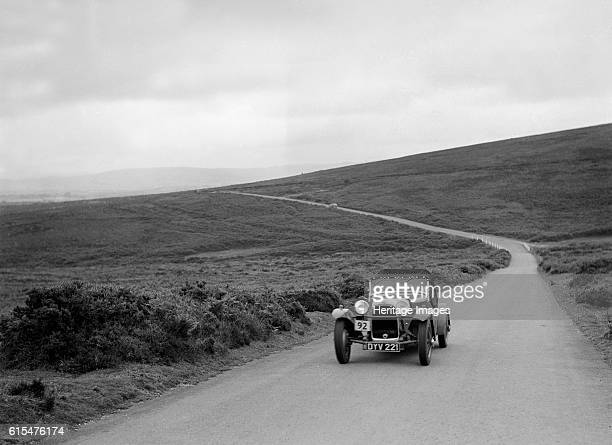 Peter Clark's HRG, winner of a silver award at the MCC Torquay Rally, July 1937. HRG 1496 cc. Vehicle Reg. No. DYV221. Event Entry No: 92 Driver:...