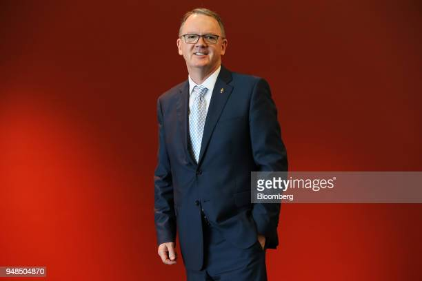 Peter Coleman chief executive officer of Woodside Petroleum Ltd poses for a photograph following the company's annual general meeting in Perth...
