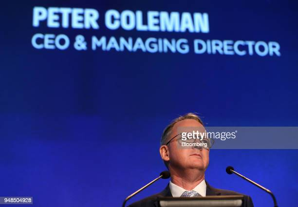 Peter Coleman chief executive officer of Woodside Petroleum Ltd speaks during the company's annual general meeting in Perth Australia on Thursday...