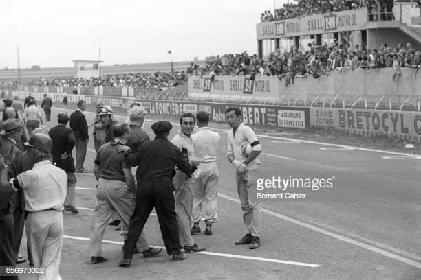 Peter Collins Alfonso de Portago Juan Manuel Fangio Mike Hawthorn Eugenio Castellotti Olivier Gendebien Grand Prix of France ReimsGueux 01 July 1956...