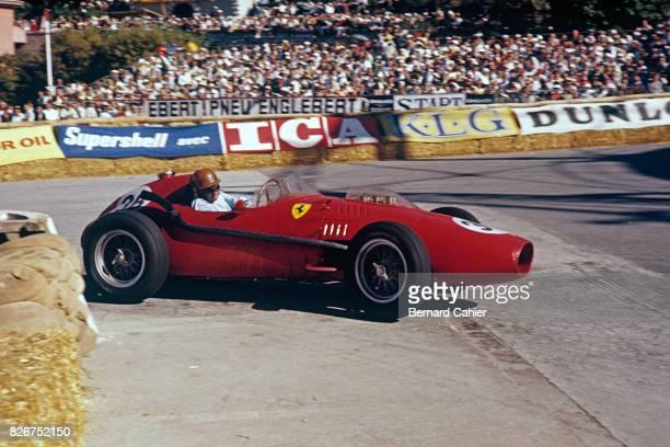 Peter Collins, Ferrari 246, Grand Prix of Monaco, Monaco, 18 May 1958. Peter Collins in his Ferrari 246 through Gazometre corner.