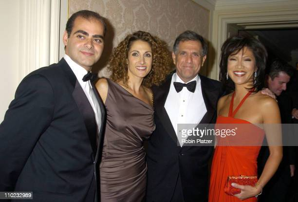 Peter Constantinides Melina Kanakaredes Leslie Moonves and Julie Chen