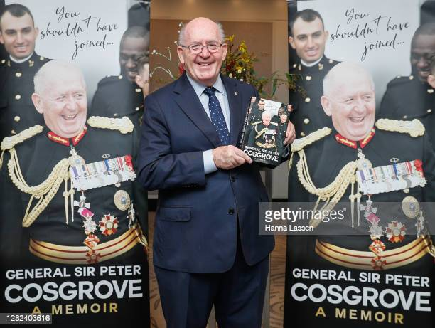 Peter Cosgrove, Former Governor-General of Australia during the launch of General Sir Peter Cosgrove's book 'You Shouldn't Have Joined' on October...