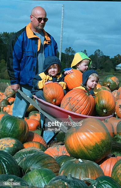 Peter Coulis of Oshawa has a load full as he prepares for the fall tradition of thanksgiving . With sons Joshua 3 in yellow jacket and Tyler 3 left...