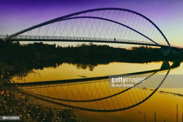 peter courtney minto island bridge - salem oregon stock pictures, royalty-free photos & images