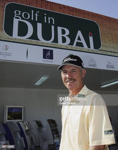 Peter Cowen of England the renowned Golf Coach who was announced today as World Ambassador for Golf, smiles in Dubai at the 2006 Dubai Desert Classic...