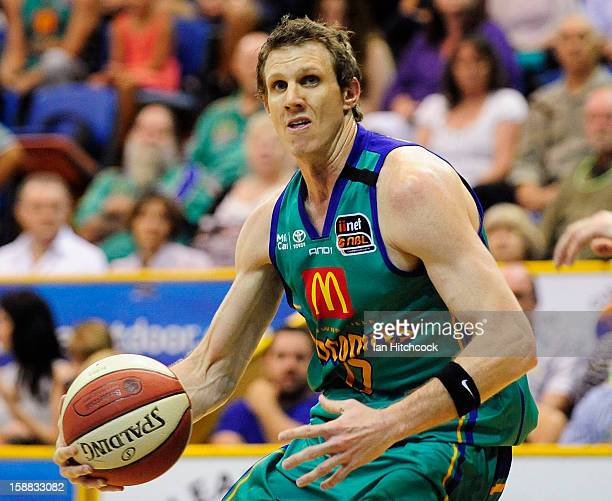 Peter Crawford of the Crocodiles in action during the round 12 NBL match between the Townsville Crocodiles and the Adelaide 36ers at Townsville...