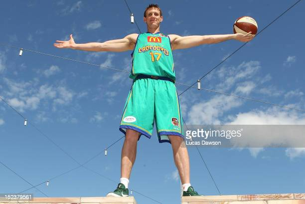 Peter Crawford of the Townsville Crocodiles poses for a photo during the 2012/13 NBL/WNBL season launch at Federation Square on September 20, 2012 in...