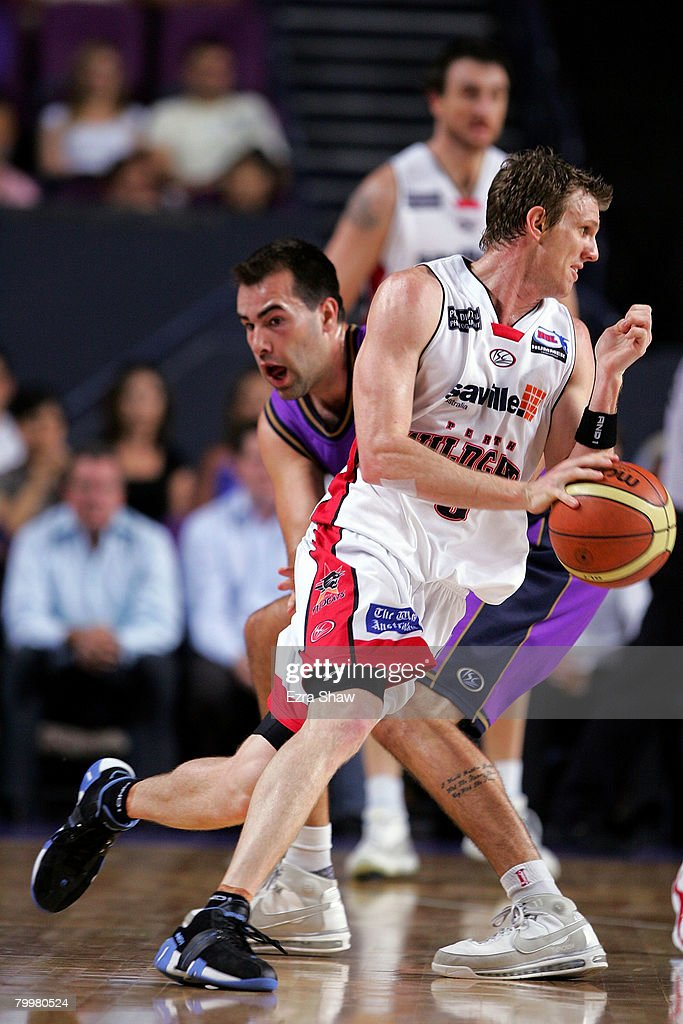 Peter Crawford of the Wildcats dribbles the ball during game one of the NBL Semi Final Series between the Sydney Kings and the Perth Wildcats at Sydney Entertainment Centre on February 25, 2008 in Sydney, Australia.