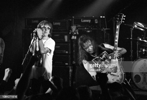 Peter Criss and Ace Frehley of the band KISS perform at Starz Nightclub on November 1 in Allentown Pennsylvania