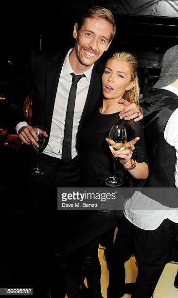 Peter Crouch and Abbey Clancy attend an after party celebrating the launch of 'Kate The Kate Moss Book' hosted by Marc Jacobs published by Rizzoli...