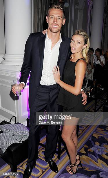 Peter Crouch and Abbey Clancy attend the Esquire Mr Porter and Jimmy Choo party during London Collections Men at Corinthia Hotel London on June 15...
