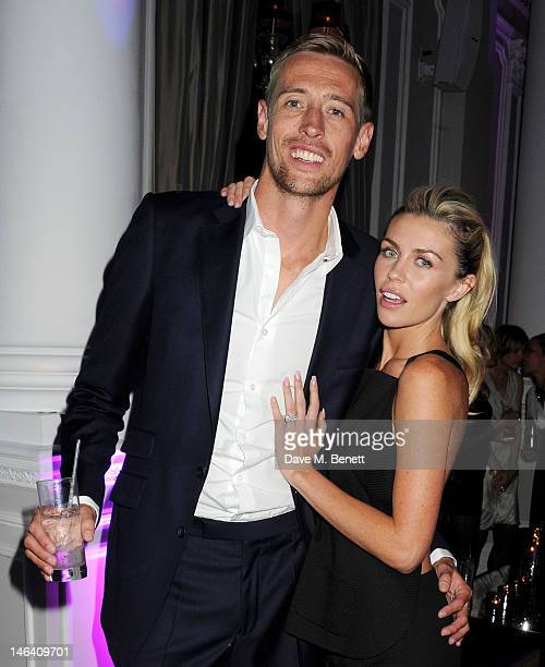 Peter Crouch and Abbey Clancy attend the Esquire, Mr Porter and Jimmy Choo party during London Collections: Men at Corinthia Hotel London on June 15,...