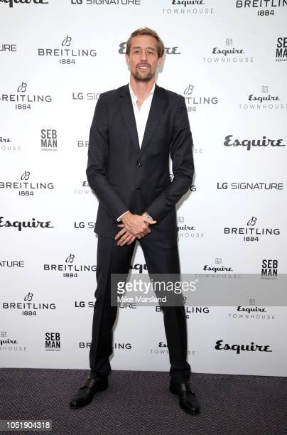 Peter Crouch attends Esquire Townhouse in accation with Breitling at Esquire Townhouse on October 11 2018 in London England