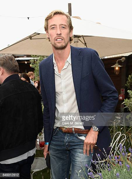 Peter Crouch attends Warner Music Group Summer party in association with British GQ and Quintessentially on July 6 2016 in London England