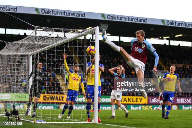 Peter Crouch of Burnley during the Premier League match between Burnley FC and Southampton FC at Turf Moor on February 2 2019 in Burnley United...