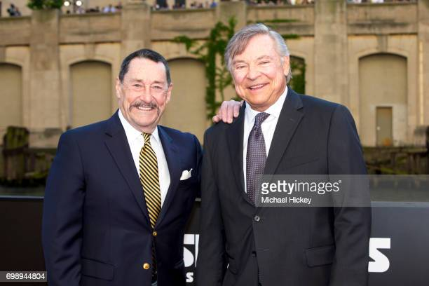 Peter Cullen and Frank Welker appear at the Transformers The Last Knight Chicago premiere at Civic Opera Building on June 20 2017 in Chicago Illinois