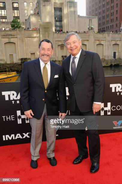Peter Cullen and Frank Welker attend the US premiere of 'Transformers The Last Knight' at the Civic Opera House on June 20 2017 in Chicago Illinois