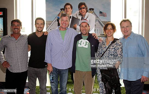 Peter Dante Oliver Hudson Dan Patrick Adam Sandler Maya Rudolph and Colin Quinn attend the That's My Boy Boston Premiere at Regal Fenway Theater on...