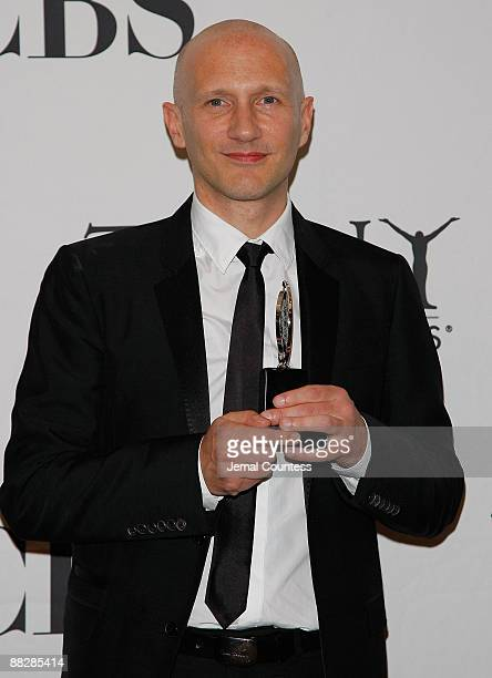 Peter Darling , winner of best choreography for Billy Elliot, The Musical, poses in the press room at the 63rd Annual Tony Awards at Radio City Music...