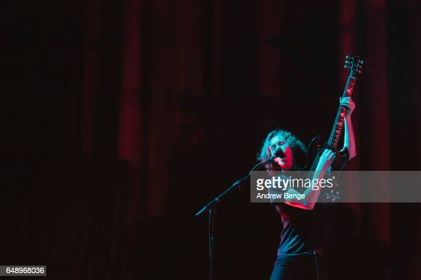 Peter Darlington of Spring King performs at First Direct Arena on March 4, 2017 in Leeds, United Kingdom.