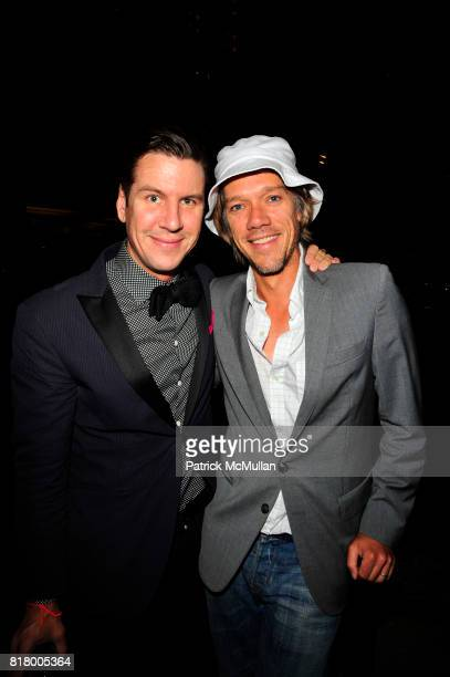 Peter Davis and Stephen Gaghan attend Hearst Magazines host opening of Lincoln at Hearst Plaza NYC on September 9 2010 in New York City