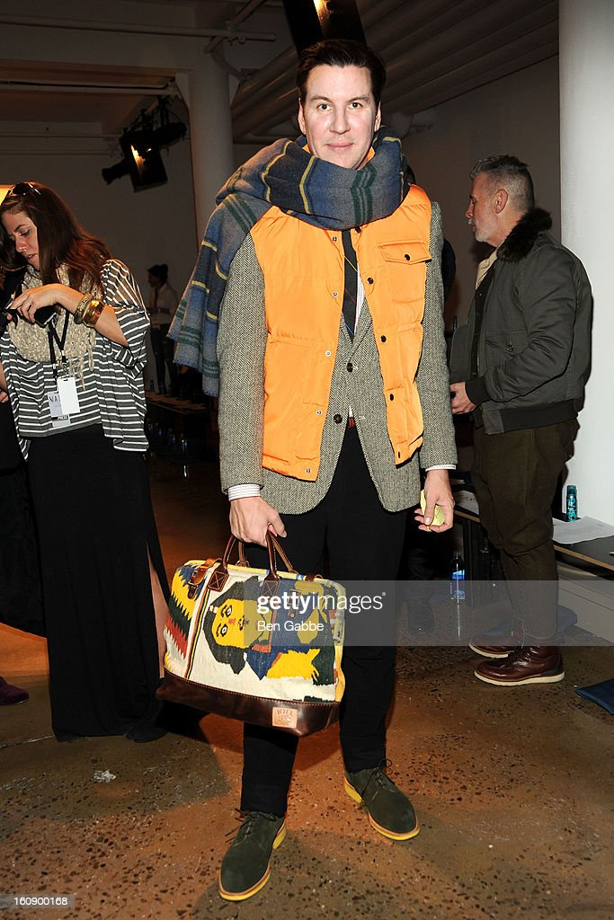 Peter Davis attends the Costello Tagliapietra fall 2013 fashion show during MADE fashion week at Milk Studios on February 7, 2013 in New York City.