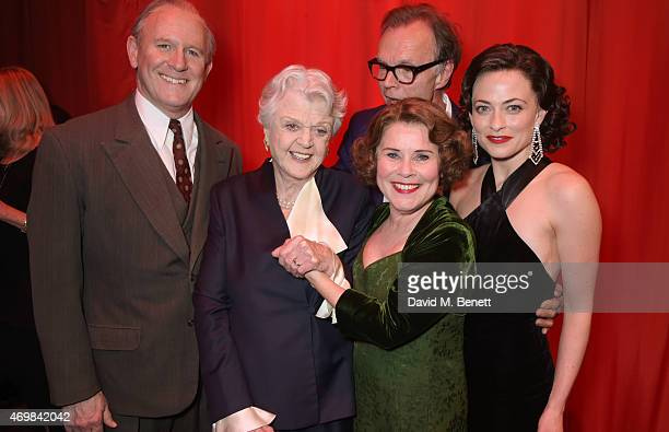Peter Davison Dame Angela Lansbury Imelda Staunton director Jonathan Kent and Lara Pulver attend a post show drinks reception on stage following the...