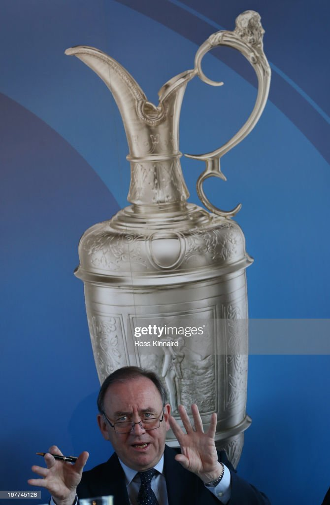 Peter Dawson the Chief Executive of the R&A during The Open Championship media day at Muirfield on April 29, 2013 in Gullane, Scotland.
