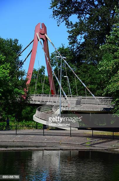 peter defazio bicycle bridge - eugene oregon stock photos and pictures