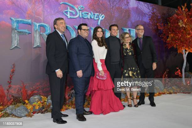 Peter Del Vecho Josh Gad Idina Menzel Jonathan Groff Jennifer Lee and Chris Buck attend the European Premiere of Frozen 2 at the BFI Southbank on...