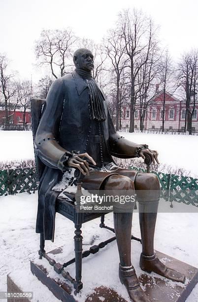 Peter der Große Denkmal Zar St Petersburg Russland Europa Winter Schnee Reise