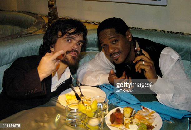 Peter Dinklage and Blair Underwood during The 61st Annual Golden Globe Awards HBO After Party at Griff's Restaurant in Beverly Hills California...