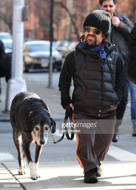 Peter Dinklage and Erica Schmidt are seen in Chelsea on January 29 2013 in New York City