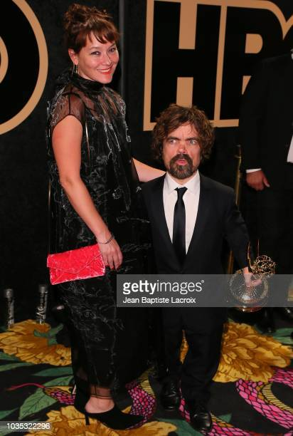 Peter Dinklage and Erica Schmidt attend HBO's Official 2018 Emmy After Party on September 17 2018 in Los Angeles California