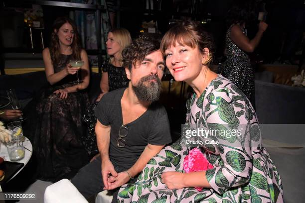 Peter Dinklage and Erica Schmidt attend the 2019 Netflix Primetime Emmy Awards After Party at Milk Studios on September 22 2019 in Los Angeles...
